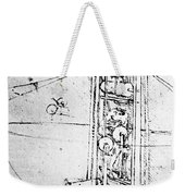 Vertically Standing Bird's Winged Flying Machine Weekender Tote Bag
