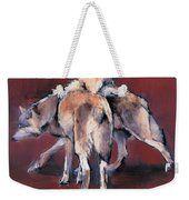 Wolf Composition Weekender Tote Bag