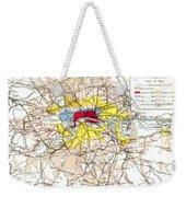 Map Of London, 1881 Weekender Tote Bag
