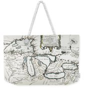 Great Lakes Map, 1755 Weekender Tote Bag