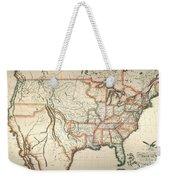 Map: United States, 1820 Weekender Tote Bag