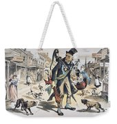 Prohibition  Cartoon, 1889 Weekender Tote Bag