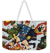 World War II: Comic Book Weekender Tote Bag