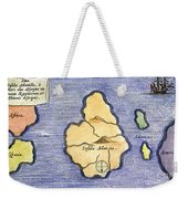 Map Of Atlantis, 1678 Weekender Tote Bag