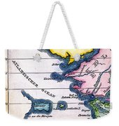 Atlantis: Map, 1831 Weekender Tote Bag