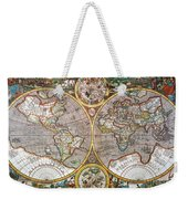 World Map, 1607 Weekender Tote Bag