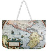 New World Map, 1570 Weekender Tote Bag