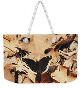 #002 Nymphalis Antiopa, Mourning Cloak Camberwell Beauty Large Butterfly Anglewing Weekender Tote Bag