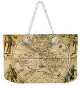 W. Hemisphere Map, 1596 Weekender Tote Bag