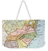 United States Map, C1791 Weekender Tote Bag