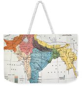 India: Map, 19th Century Weekender Tote Bag
