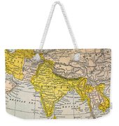 Asia Map, 19th Century Weekender Tote Bag