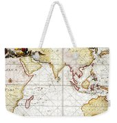 Indian Ocean: Map, 1705 Weekender Tote Bag