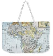 Map: Africa, 19th Century Weekender Tote Bag