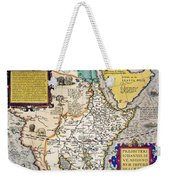 African Map, 1595 Weekender Tote Bag