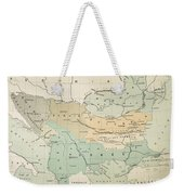 Balkan Map, 1885 Weekender Tote Bag