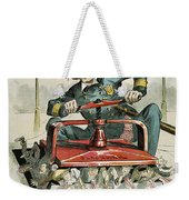 Police Corruption Cartoon Weekender Tote Bag