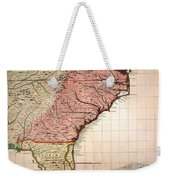 Colonial America Map, 1733 Weekender Tote Bag