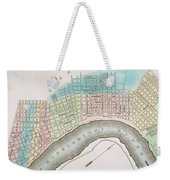 New Orleans Map, 1837 Weekender Tote Bag