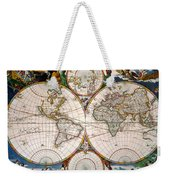 World Map, 17th Century Weekender Tote Bag
