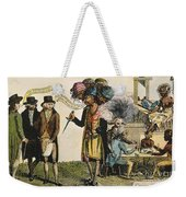 Cartoon: French War, 1798 Weekender Tote Bag