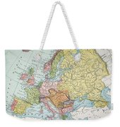 Map: Europe, 1885 Weekender Tote Bag