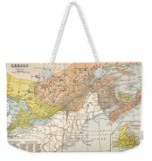 Map: Eastern Canada Weekender Tote Bag