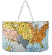 U.s. Map, 1776/1884 Weekender Tote Bag