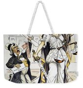 Justice Cartoon Weekender Tote Bag