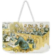 Litigation Cartoon Weekender Tote Bag