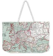 Map Of Europe, 12th Century Weekender Tote Bag