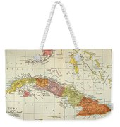 Map: Cuba, 1900 Weekender Tote Bag