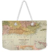 Map: Puerto Rico, 1900 Weekender Tote Bag by Granger