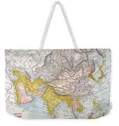 Asia Map Late 19th Century Weekender Tote Bag