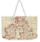 Map: British Isles, C1890 Weekender Tote Bag
