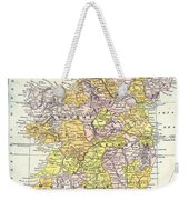Map: Ireland, C1890 Weekender Tote Bag