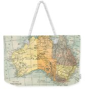 Map: Australia, C1890 Weekender Tote Bag