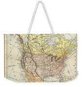 Map: North America, 1890 Weekender Tote Bag