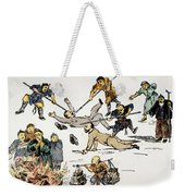 China: Anti-west Cartoon Weekender Tote Bag