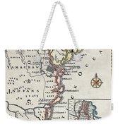 Map: North America, C1700 Weekender Tote Bag