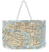 World Map 2nd Century Weekender Tote Bag