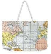 Map: Atlantic Voyages Weekender Tote Bag