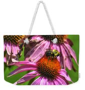01 Bee And Echinacea Weekender Tote Bag