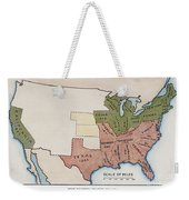 United States Map, 1854 Weekender Tote Bag