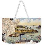 Mississippi Steamboat Weekender Tote Bag