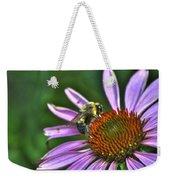 02 Bee And Echinacea Weekender Tote Bag