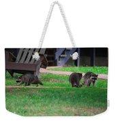 #02 Raccoon Race Weekender Tote Bag