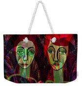 039   Two Pensive Women A Weekender Tote Bag