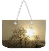 04 Foggy Sunday Sunrise Weekender Tote Bag