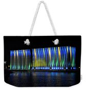 06 Grain Elevators Light Show 2015 Weekender Tote Bag